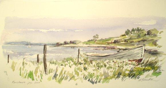 landskabs akvareller