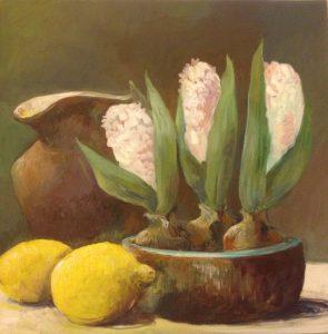 Hyacinter og citroner - Mai-Britt Schultz 4.500 kr. 60 x 60