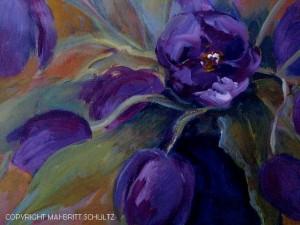 Kopi af violette tulipaner udsnit - Mai-Britt Schultz lille