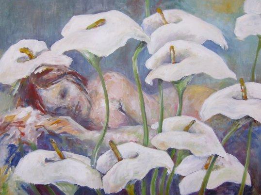 Sovende bag kallaer mai-britt schultz lille