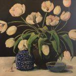 Hvide tulipaner - Mai-Britt Schultz 10.000 kr. 100 x 100