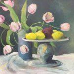 Lyserøde tulipaner - Mai-Britt Schultz 10.000 kr. 100 x 100